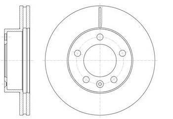 Тормозной диск передний  Опель, Рено (пр-во ROADHOUSE 61475.10)