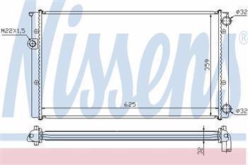 Радиатор охлаждения  Фольксваген Гольф/ Гольф Estate/ Джета III (пр-во NISSENS 652471)