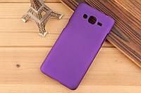 Чехол накладка бампер для Samsung Galaxy Grand Prime G530 фиолетовый