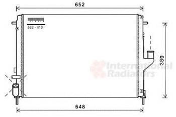 Радиатор охлаждения  Renault Logan, Дачия логан,  Рено (пр-во VAN WEZEL 43002478)