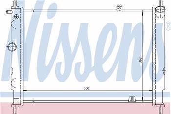 Радіатор охолодження Опель Астра F/ Астра F CLASSIC (пр-во NISSENS 63059)