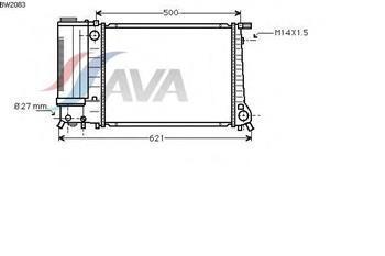 Радиатор охлаждения  БМВ 3 (пр-во AVA QUALITY COOLING BW2083)
