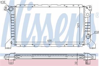 Радіатор охолодження Ford Transit, Форд Транзит (пр-во NISSENS 62177)