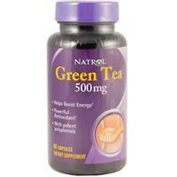Зеленый чай (Green tea), Natrol, 500 мг, 100 капсул