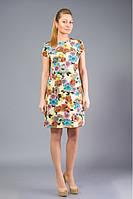 Платье из дайвинга с цветочным принтом.