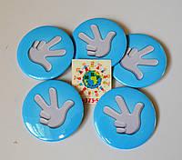 Значок сувенирный Фиксики голубой