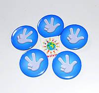 Значок сувенирный Фиксики синий