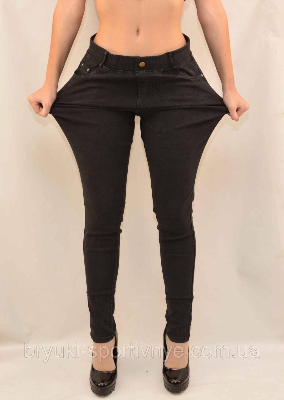 Джинсы женские в больших размерах с боковыми и задними карманами 3XL - 4XL Джеггинсы  Kenalin Черный