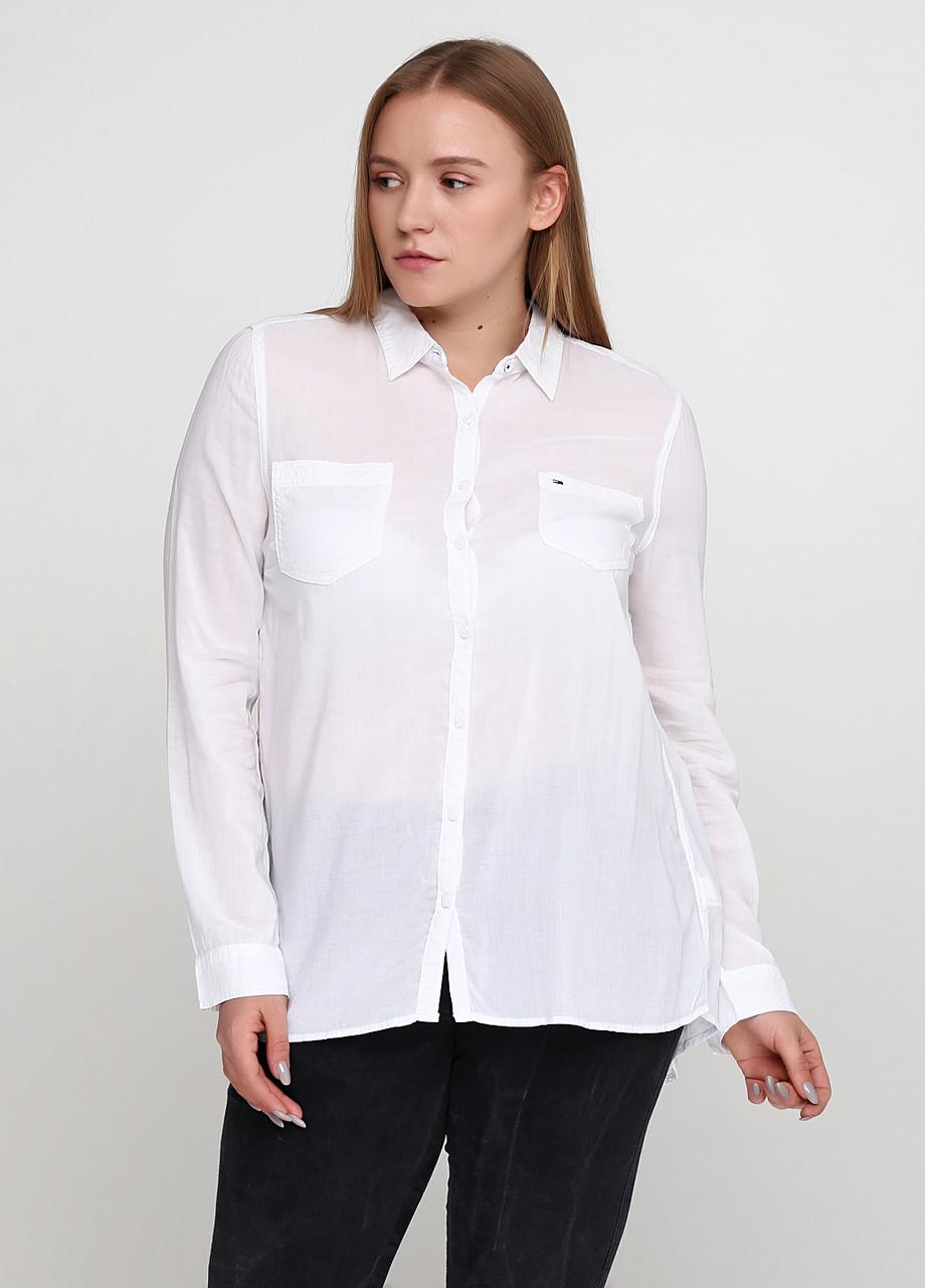 Рубашка женская TOMMY HILFIGER цвет белый размер XL арт 1657664345100