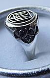 Кольцо унисекс серебряное Герб Украины, фото 3