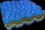Массажный  коврик  с эффектом морской гальки Пазлы 4 элемента, фото 3