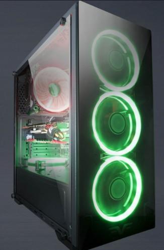 Корпус Frime Wanda green led USB 3.0 без БП (Wanda-U3-GLS-4GDRF)
