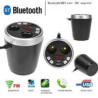 АЗУ 2USB + FM-модулятор Bluetooth X7 Стакан, фото 1