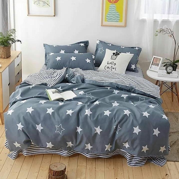 Комплект постельного белья из натурального сатина  Звезды