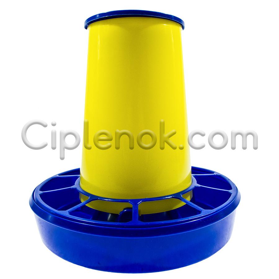 Бункерная кормушка на 3,2 л / 2,2 кг корма жел-син.