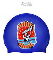Распродажа! Силиконовая шапочка для плавания Funky Trunks Comrade (Blue)