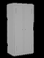 Металлический шкаф одежный ШО 400/2 с нижней полкой