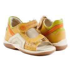 Memo Szafir жовто - помаранчеві - ортопедичні дитячі босоніжки