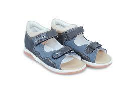 Memo Temida темно - синие (нубук) - босоножки ортопедические детские