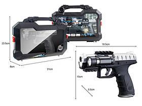 Пистолет Jungle Falcons стреляет водяными пулями, с фонариком,в чемодане HC236852