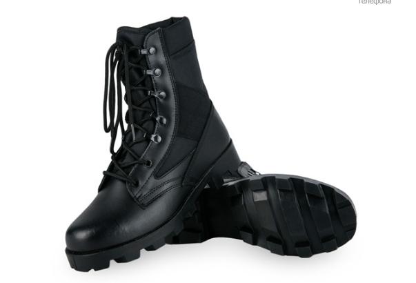 Черные кожа зам армейские ботинки берцы американки рыхленки MilTec JUNGLE копия