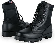 Черные кожа зам армейские ботинки берцы американки рыхленки MilTec JUNGLE копия, фото 2