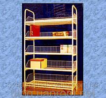 Торговий стелаж Вузький складської побутовою на 5 полиць з якісним полімерним покриттям