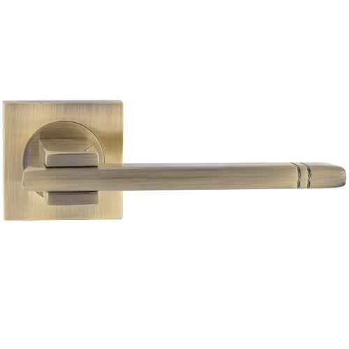 Ручка дверная Siba Kristal Z29 0 80 80 бронза античная