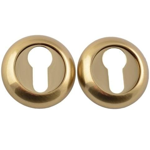 Накладка цилиндровая SIBA R02 4 29 09 латунь матовая/золото полированное