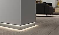Плинтус алюминиевый с LED подсветкой 61.5 мм анодированный 3000 мм