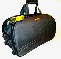Сумка дорожная на колесах CRUISER Турция полоска средняя, цвет черный, фото 1
