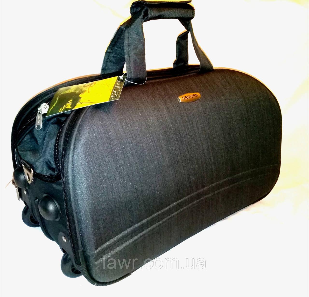 850a766506f8 Сумка дорожная на колесах CRUISER Турция полоска средняя, цвет черный