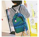 Блестящий рюкзак школьный, городской зелёный., фото 3