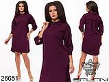Платье женское  декорировано пуговицами размеры:  46-48,50-52,54-56,58-60, фото 2