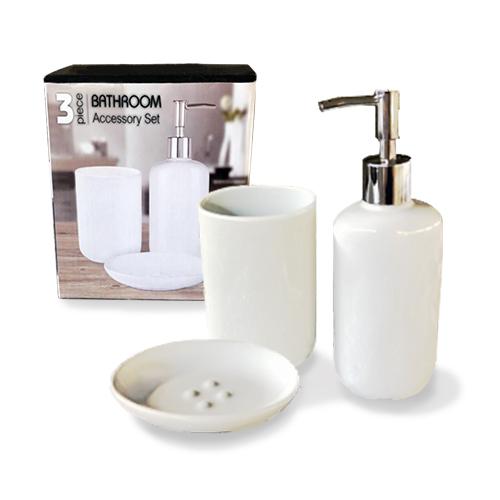 Набор 3пр (мыльница, подставка для зубных щеток, диспенсер для мыла)
