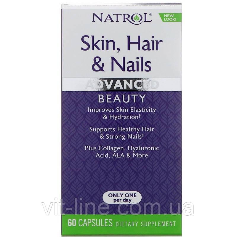 Natrol Витамины для здоровья кожи, волос и ногтей, совершенная красота, 60 капсул