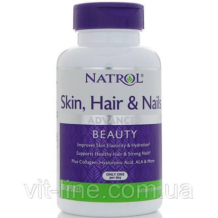 Natrol Витамины для здоровья кожи, волос и ногтей, совершенная красота, 60 капсул, фото 2