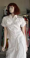 Блуза из 100%  белого хлопка с бантом Cattonade