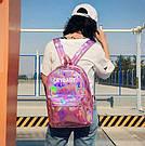Голографический  рюкзак Cry Baby розовый., фото 3