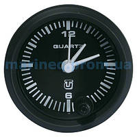 Часы кварцевые для лодки, черный циферблат.