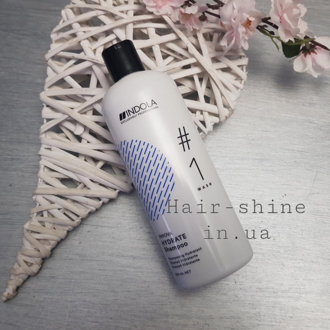 Шампунь для увлажнения сухих волос Indola Innova Hydrate Shampoo 300 мл