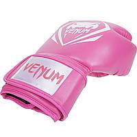 Перчатки боксерские Venum Contender pink 12oz , фото 1