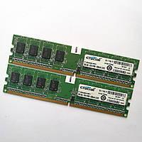 Комплект оперативной памяти Crucial DDR2 2Gb (1Gb+1Gb) 800MHz PC2 6400U CL6 (CT12864AA800.M8FH) Б/У, фото 1