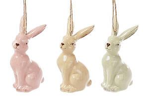Підвісний керамічний декор Кролик 3 види, 8см (834-793)