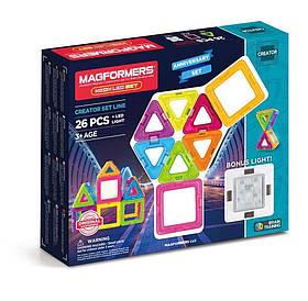Magformers Neon LED Магнитный конструктор Магформерс 26 деталей со светящим элементом (63304)