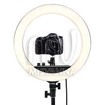 Профессиональная кольцевая лампа MakeUp RL-18II с штатив-треногой для косметологии, фото 3