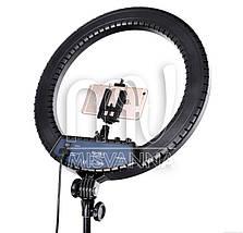 Профессиональная кольцевая лампа MakeUp RL-18II с штатив-треногой для косметологии, фото 2