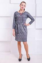 Платье с люрексом Элеон клетка графит (44)