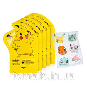 Набор локальных стикеров  Tony Moly Pokemon Sticker Mask Sheet