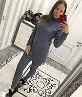 Вязаный костюм цвета джинс, фото 1